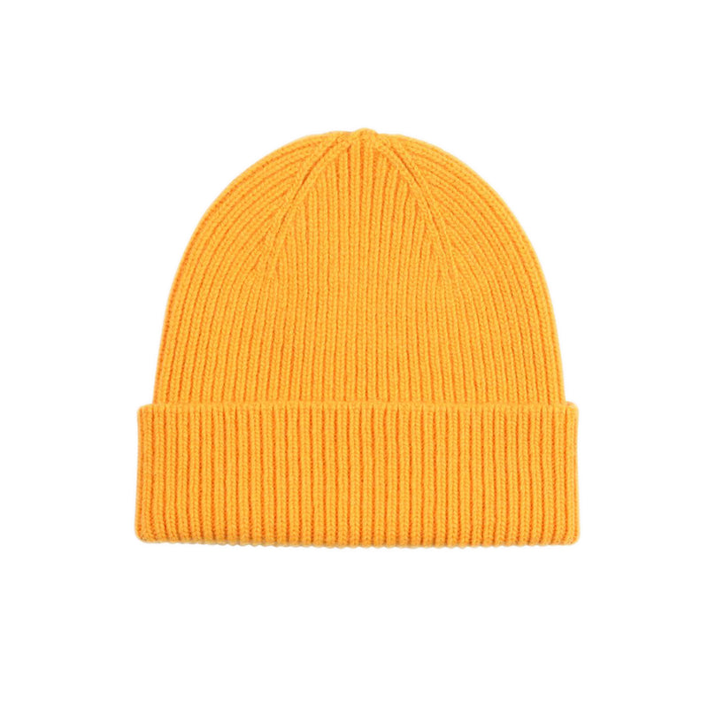 Merino Wool Beanie, Yellow