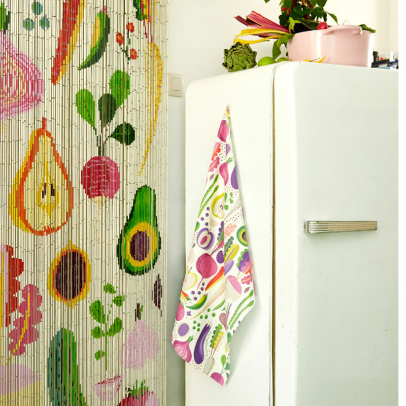Tea Towel Fruits & Roots