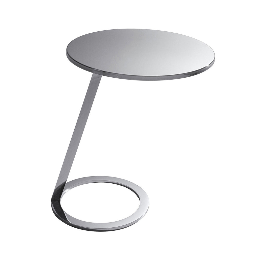 Good Morning Pedestal Table, Chrome