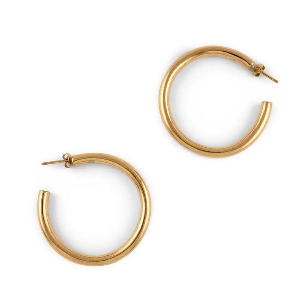 Hollow Hoop, Gold Earrings
