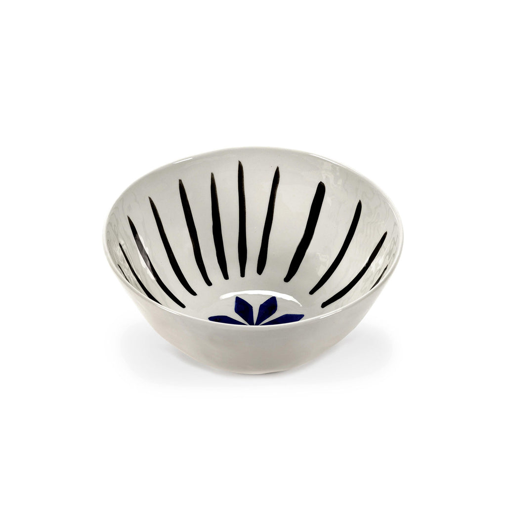 Isa Flower Bowls, Blue/Black