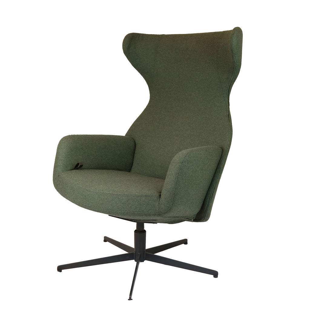 Isola Relax Lounge Chair, Dark Green