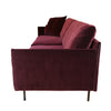 Jersey 3 Seater Sofa, Wine Red