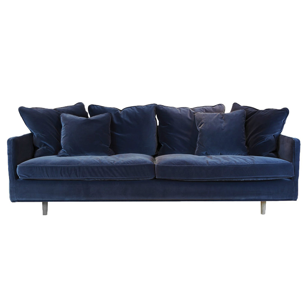 Julia 3 Seater Sofa, Blue Velvet