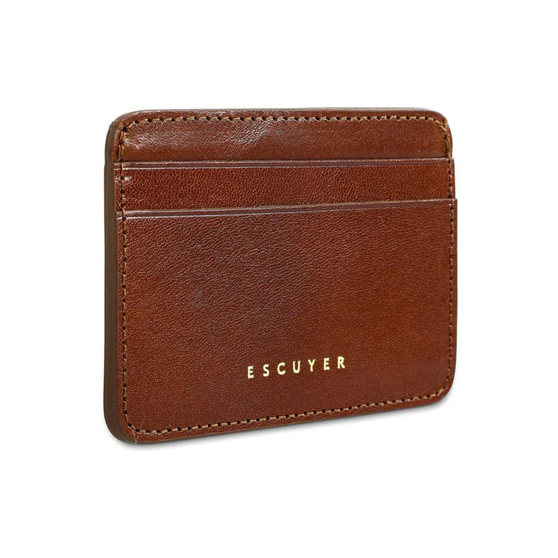 Leather Cardholder - Light Brown