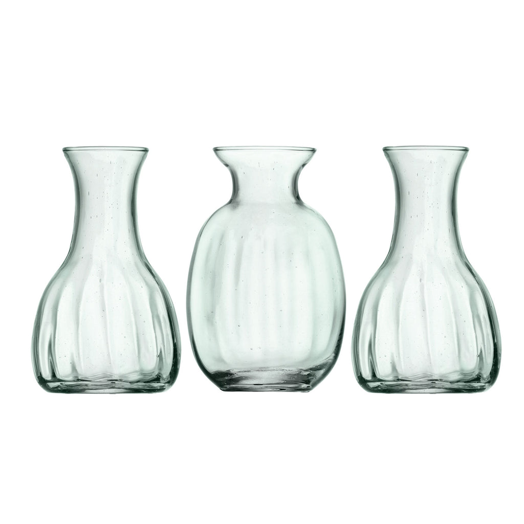 MIA Mini Glass Vases Trio Set