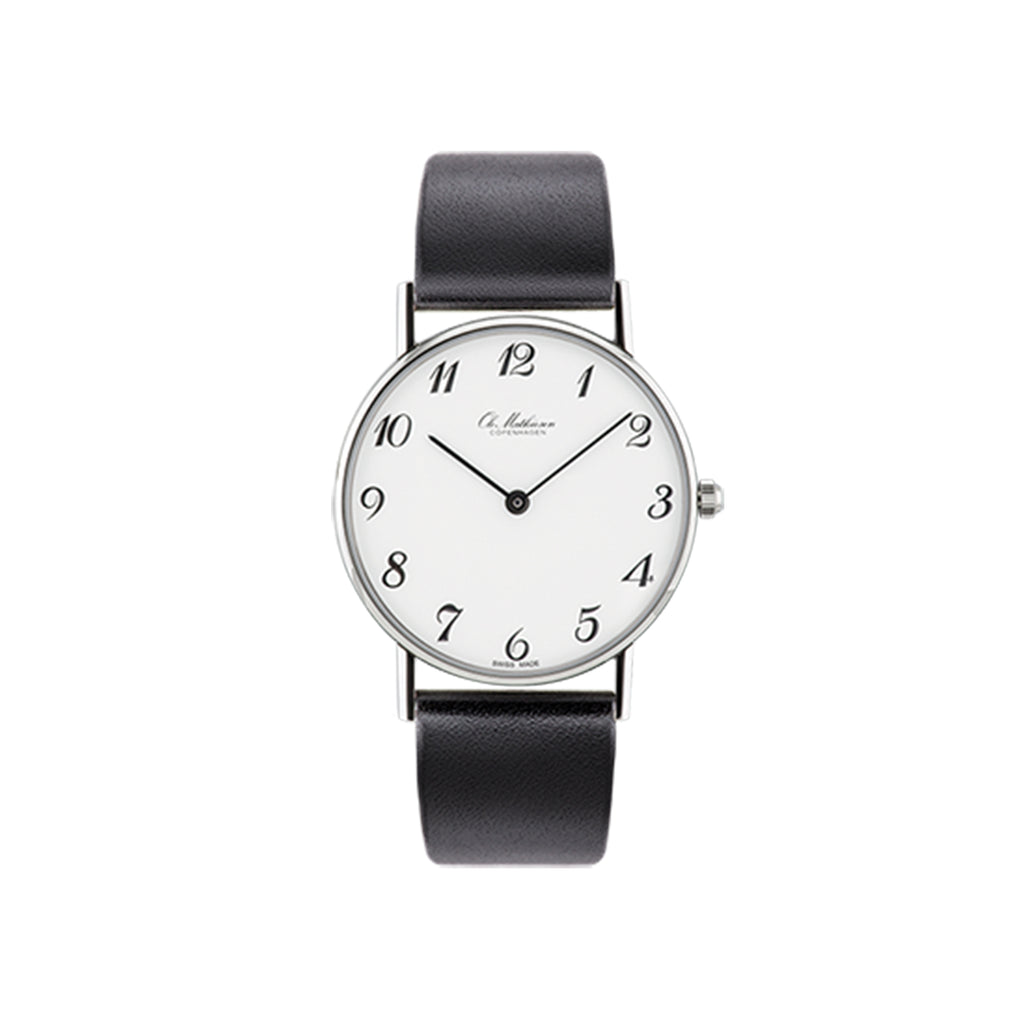 OM3.33.Q Watch, Black Leather
