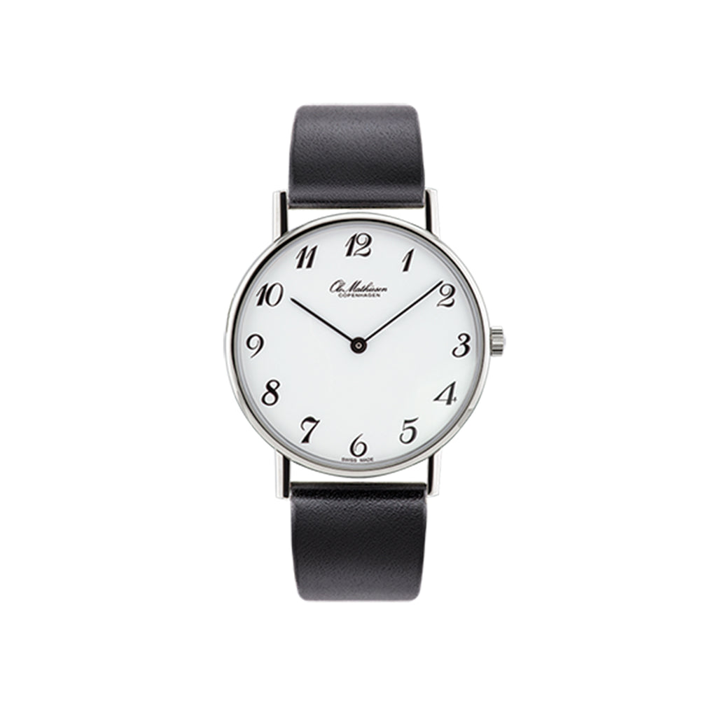 OM3.35Q Watch, Black Leather Strap