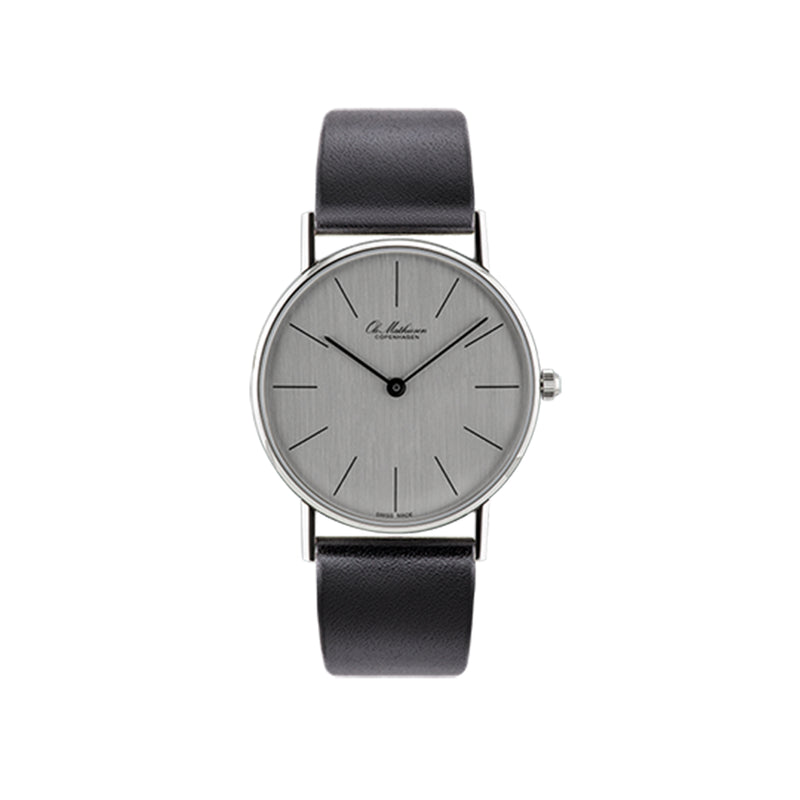 OM8.33.Q Watch, Black Leather