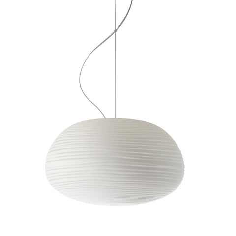 Ex-Display Glass Drop Pendant, White