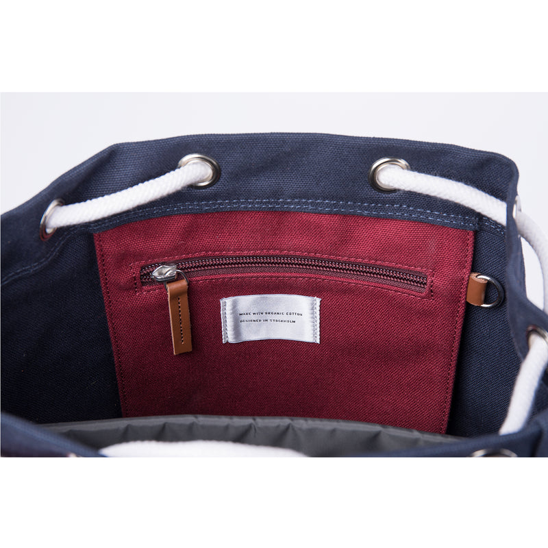 Stig  Backpack Multi, Navy & Burgundy
