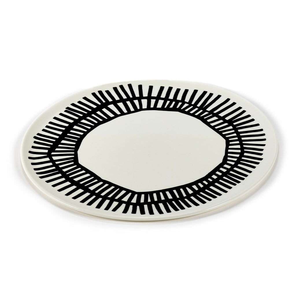 White Serving Plate, Table Nomade 32 cm
