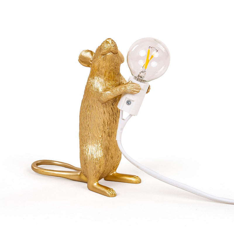 Mouse Lamp, Standing - Gold