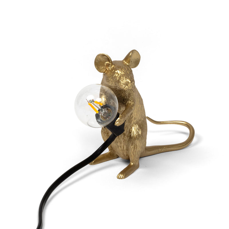 Mouse Light Sitting, Gold