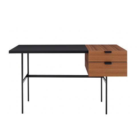 Plan Desk, Oak & Blue