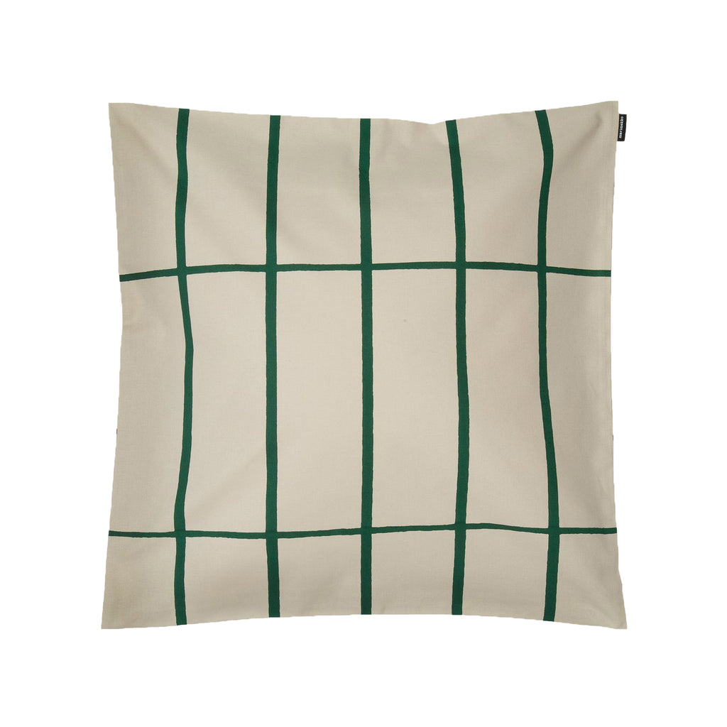 Tiiliskivi Cushion, Sand & Green 50cm