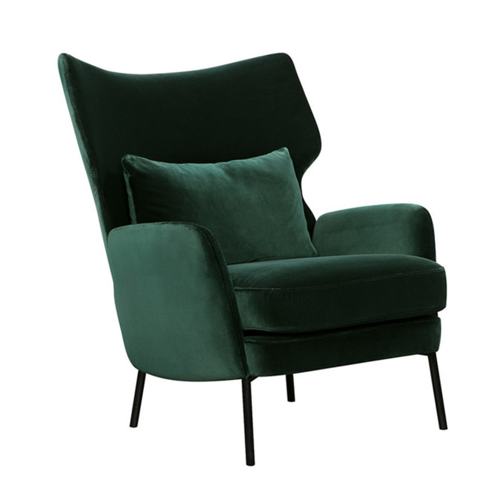 Alex Lounge Chair, Lario Dark Green