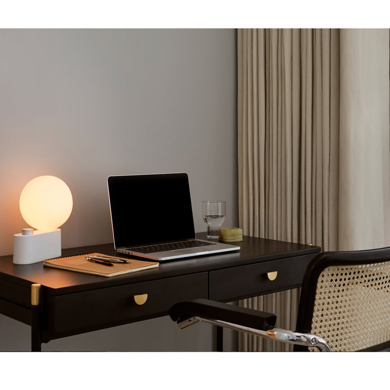 Alumina Table Lamp & Sphere Bulb