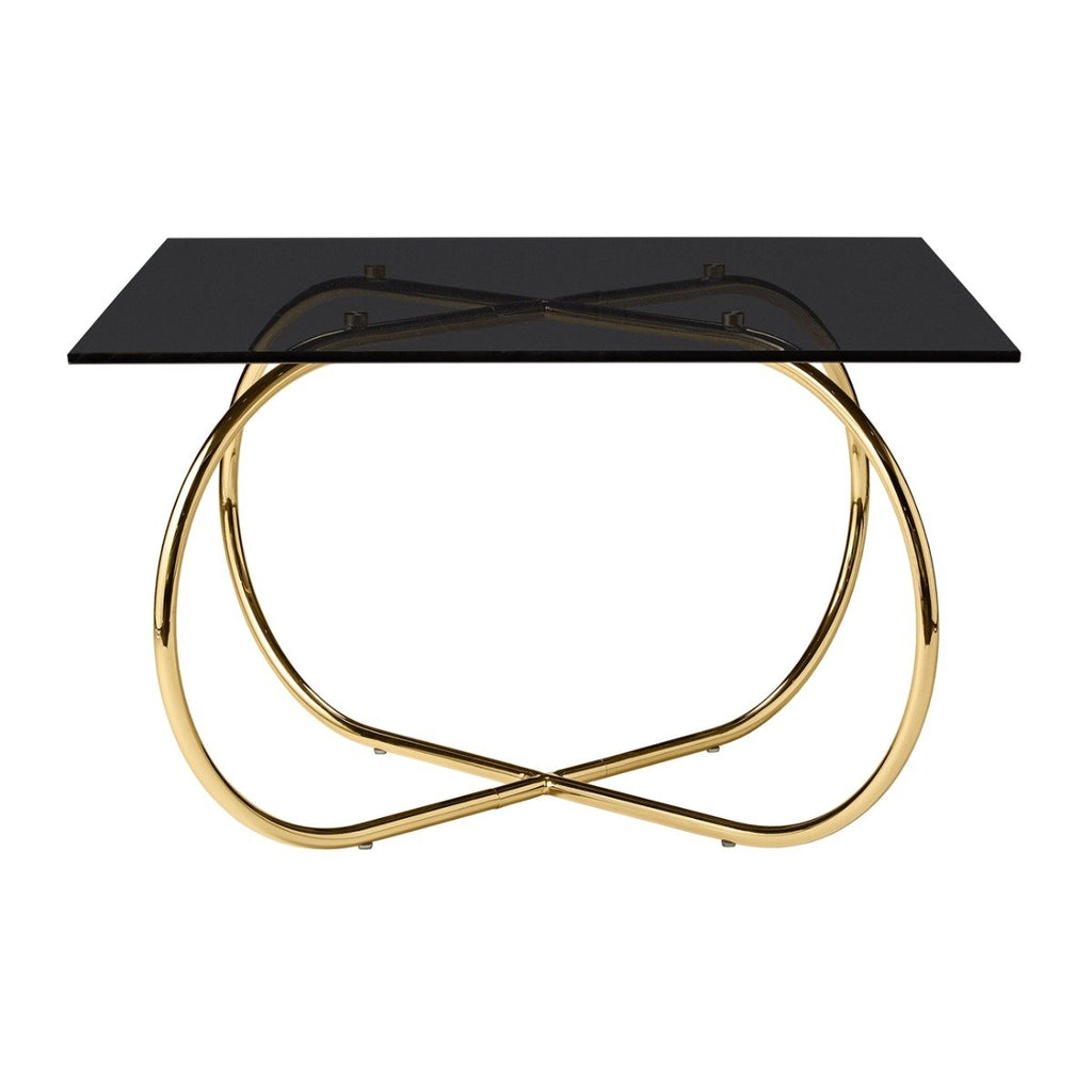 Angui Table, Black/Gold by Aytm