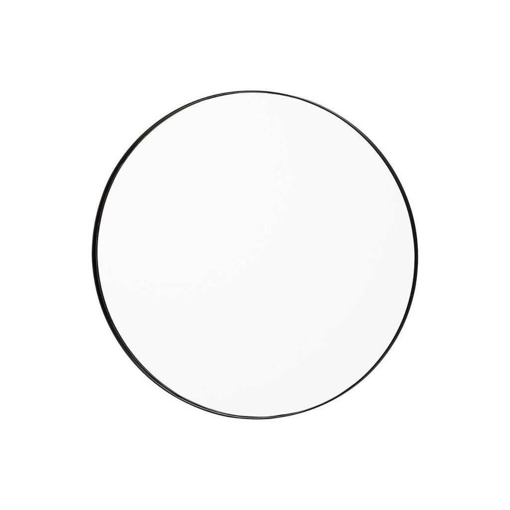 Circum Mirror Small, Black / Clear by Aytm