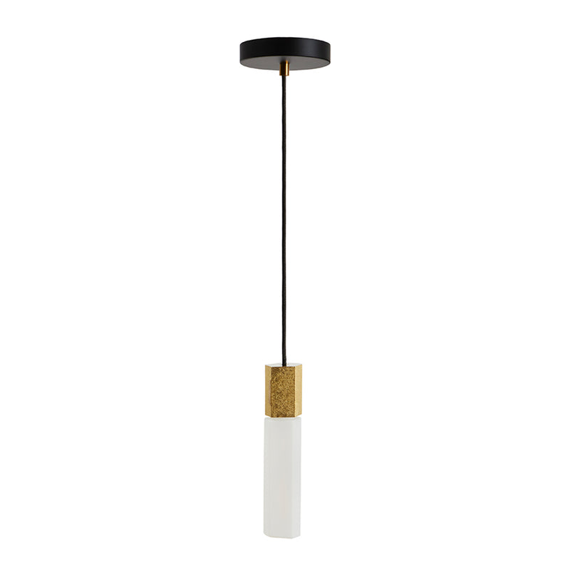 Basalt Suspension Lighting Set, Brass