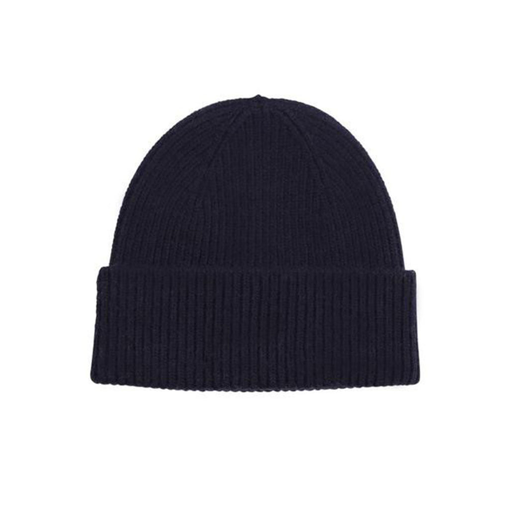 Merino Wool Beanie, Navy Blue