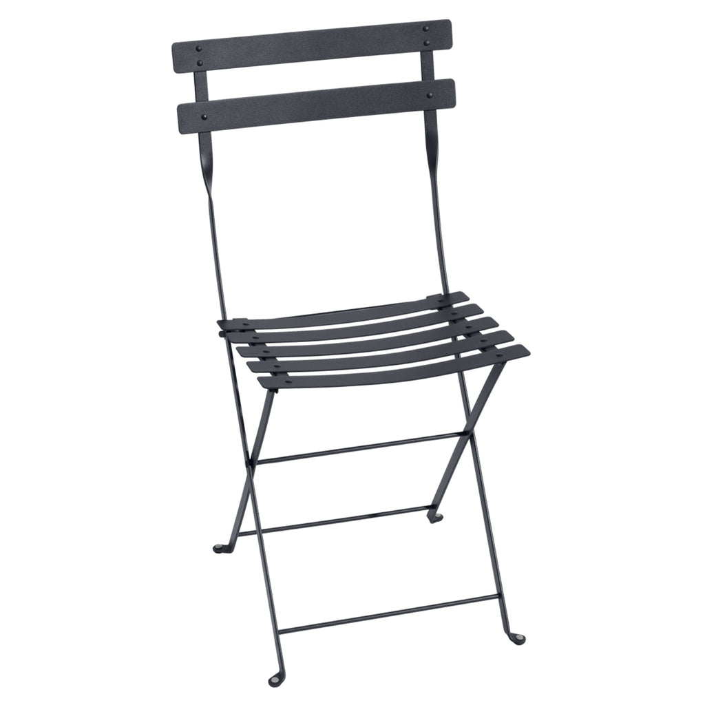 Bistro Folding Metal Chair, Storm Grey