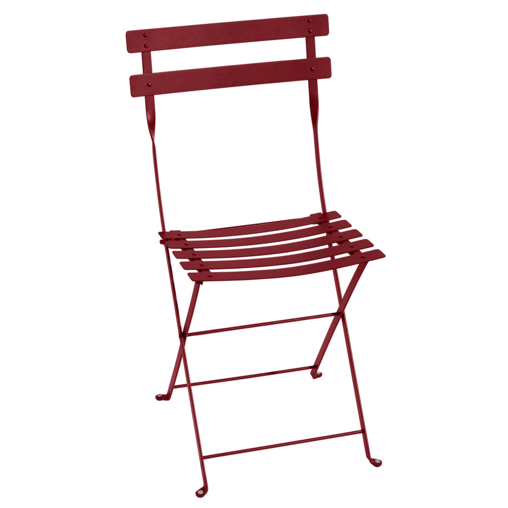 Bistro Folding Metal Chair, Chili Red