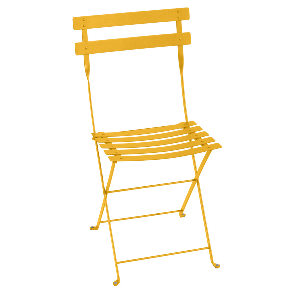 Bistro Folding Metal Chair, Honey