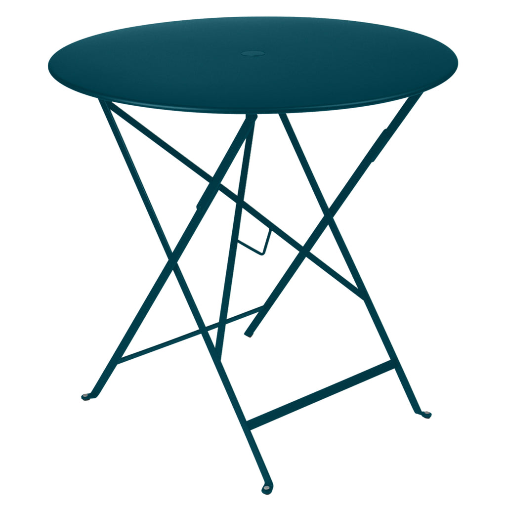 Bistro Round Metal Table 77cm, Blue