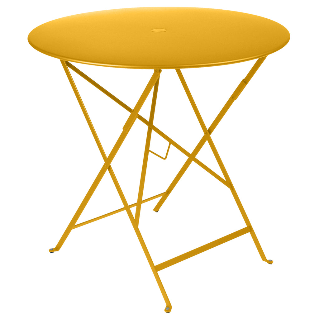 Bistro Round Metal Table, 77cm Honey