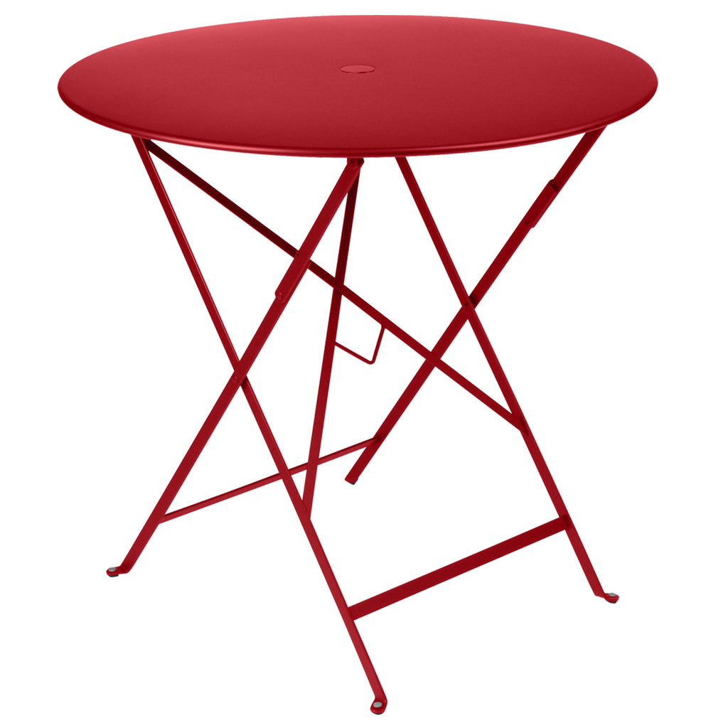 Bistro Round Metal Table, 77cm Poppy