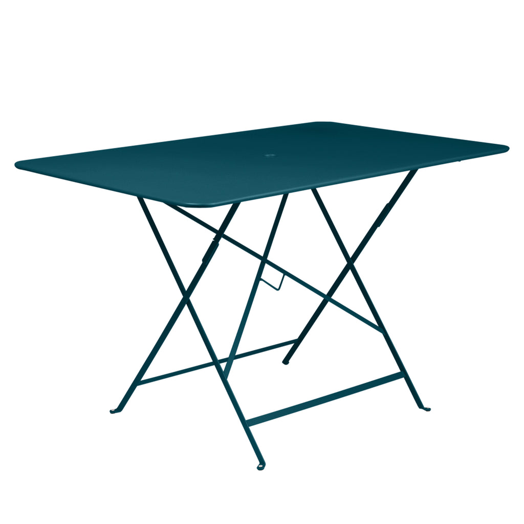 Bistro Rectangular Metal Table,  Blue