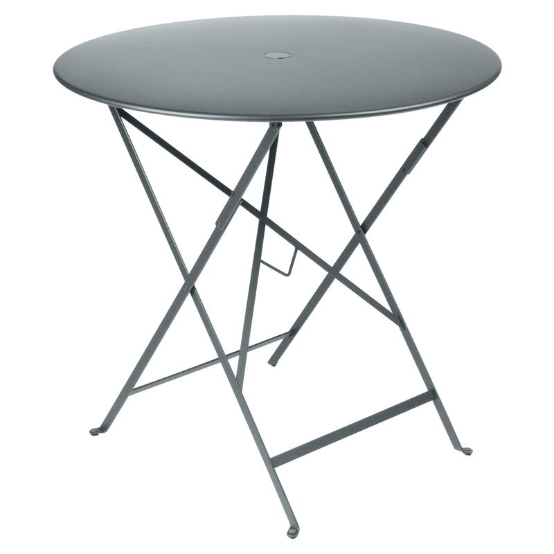 Bistro Round Metal Table 77cm, Storm Grey