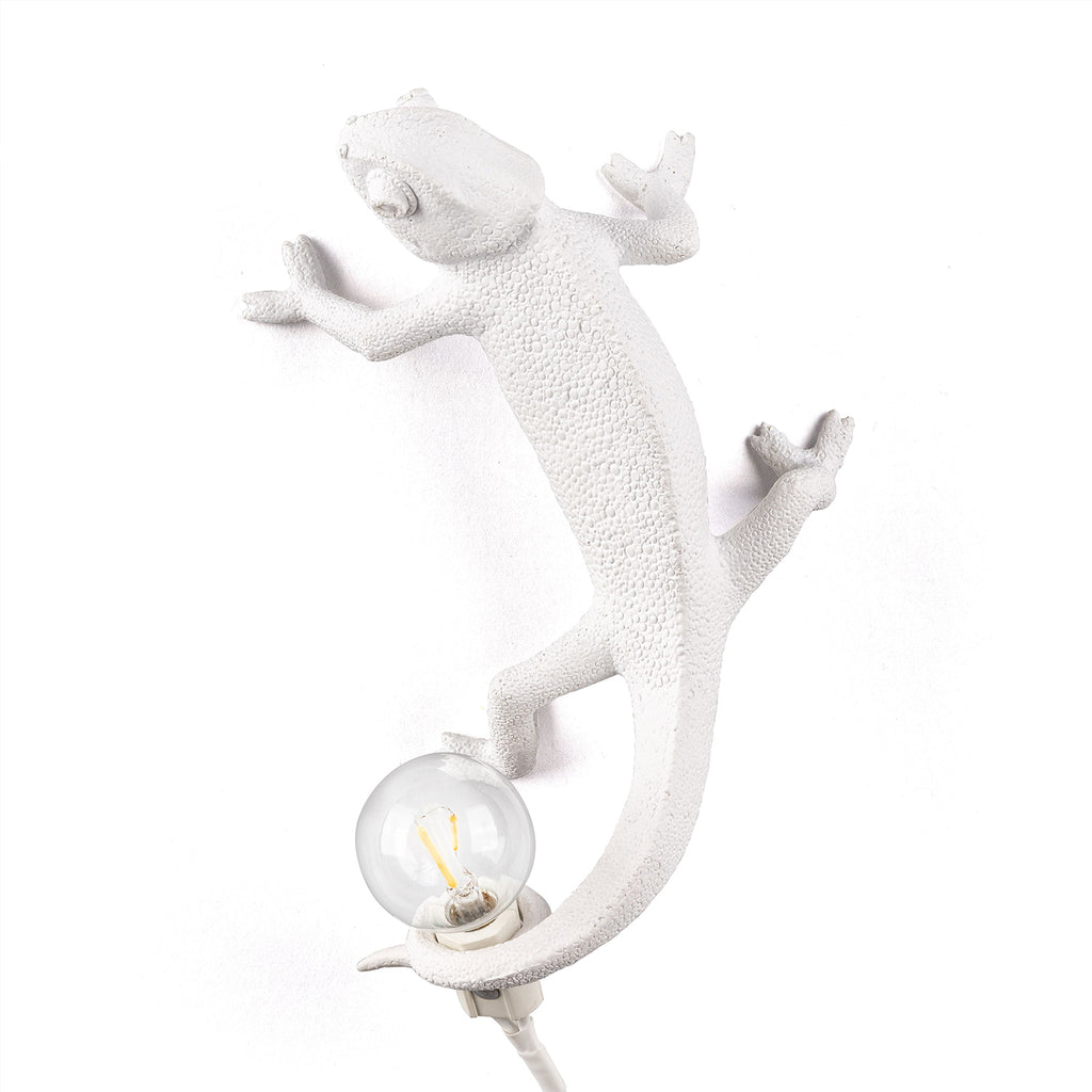 Chameleon Lamp Going Up, White