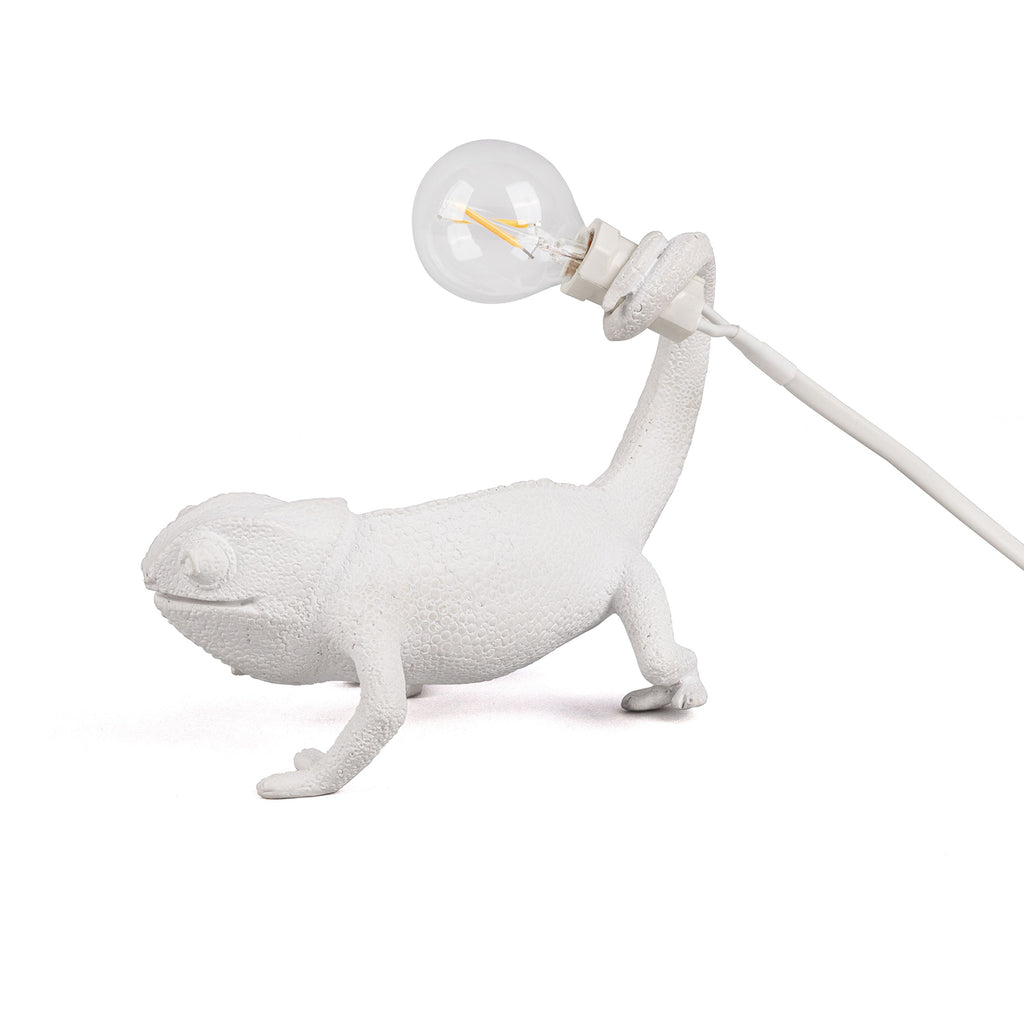 Chameleon Lamp Still, White