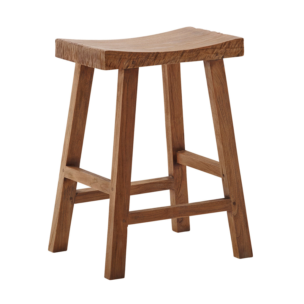 Charles Counter Stool, Old Teak