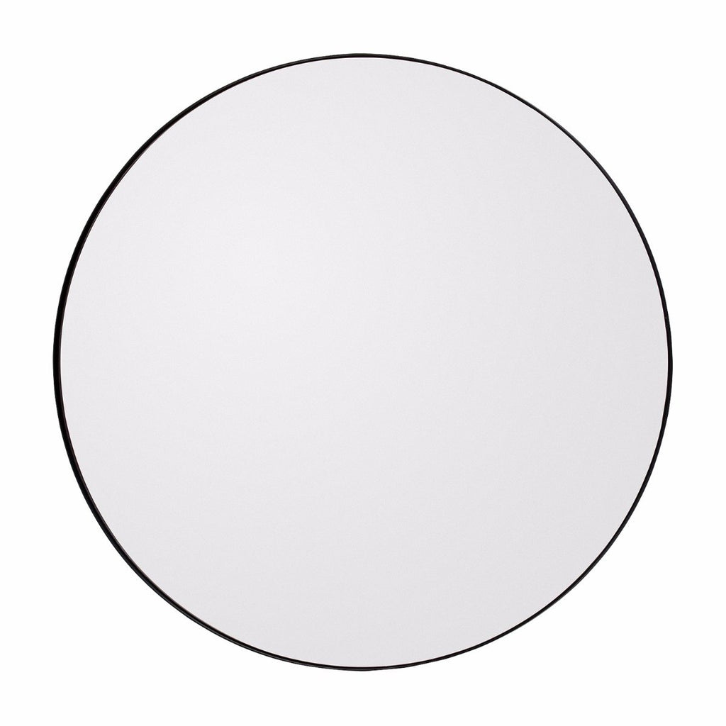 Circum Round Mirror Large, Black by Aytm