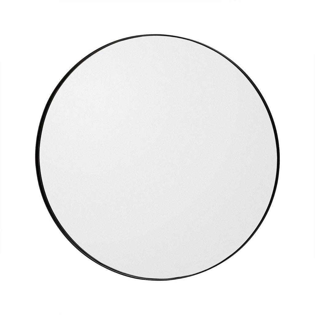 Circum Round Mirror Small, Black by Aytm
