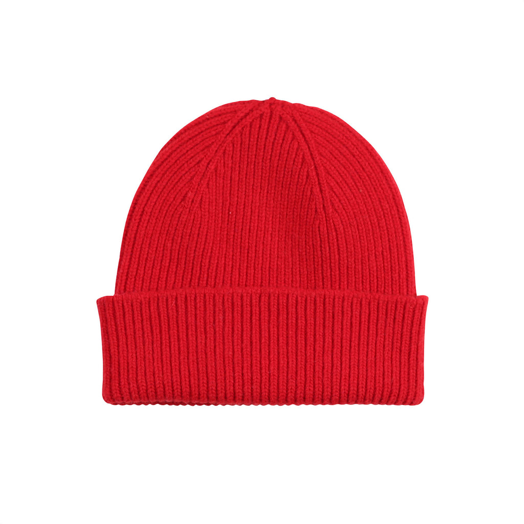 Merino Wool Beanie, Scarlet Red