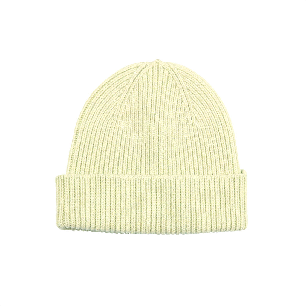 Merino Wool Beanie, Soft Yellow