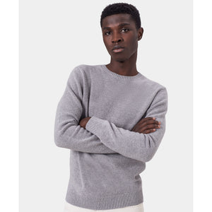 Classic Unisex Merino Wool Jumper, Heather Grey