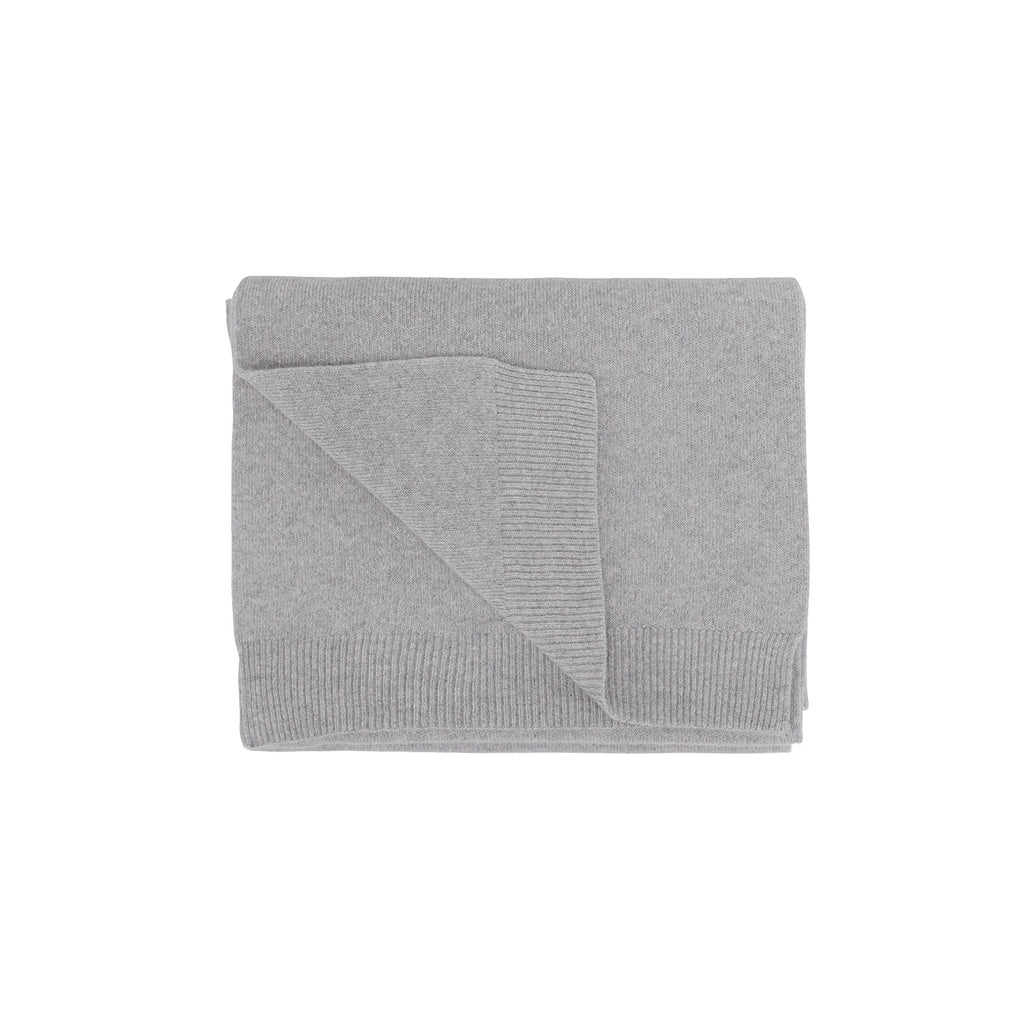 Merino Wool Scarf, Heather Grey