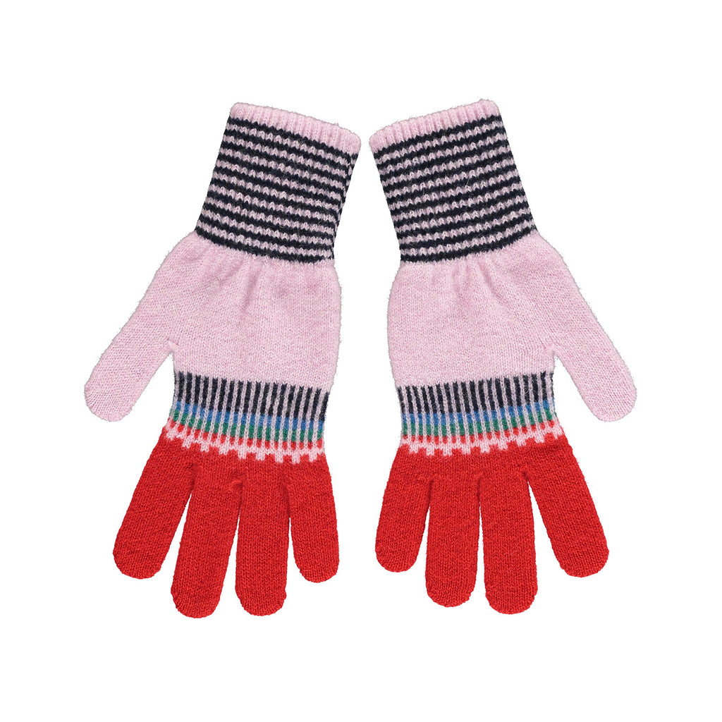 Fade Out Gloves, Pink & Red