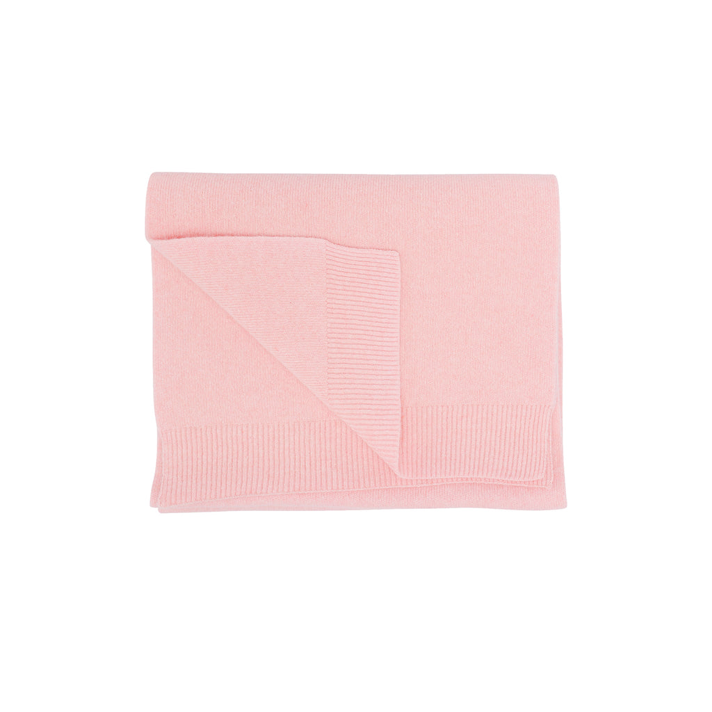 Merino Wool Scarf, Faded Pink