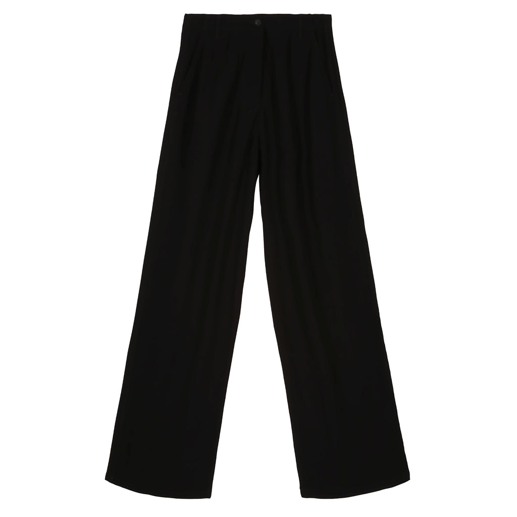 Black Flow Wide Leg Trousers, Kiffe