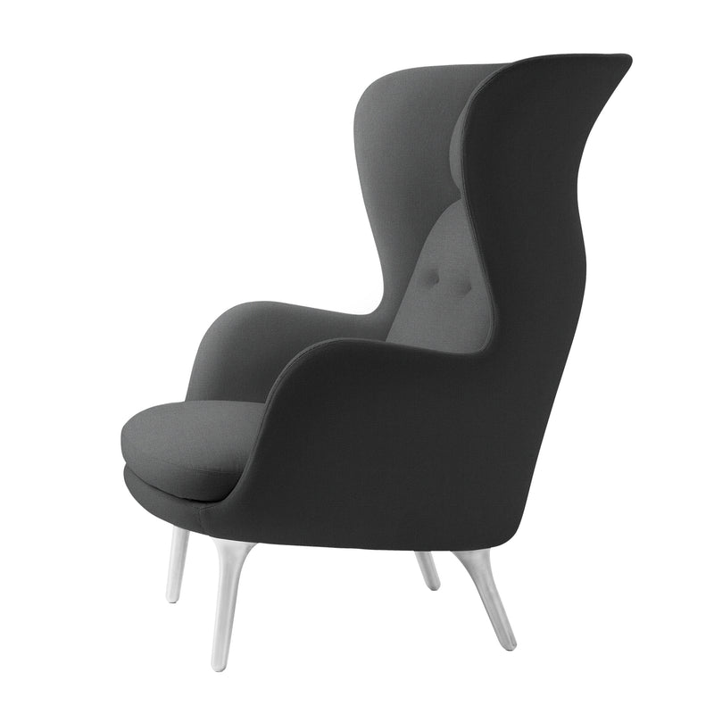 Ro Easy Armchair - Brushed Aluminium