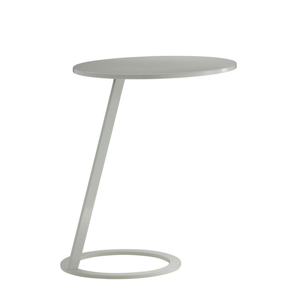 Good Morning Pedestal Table - White Lacquer