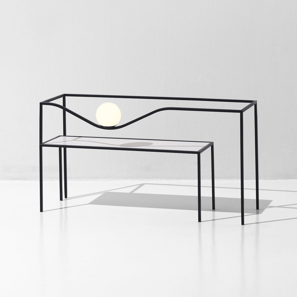 Heco Rectangular Table & Light