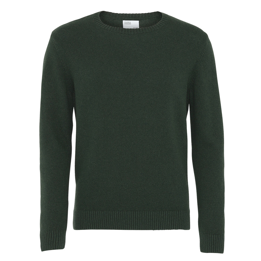 Classic Unisex Merino Wool Jumper, Hunter Green